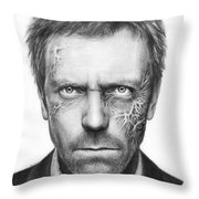 Dr. Gregory House - House Md Throw Pillow by Olga Shvartsur