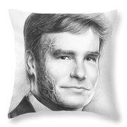 Dr. Wilson - House MD Throw Pillow by Olga Shvartsur