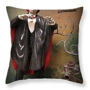 Dracula Model Kit Throw Pillow by John Malone