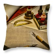 Draftsman - The Ship Builder  Throw Pillow by Paul Ward