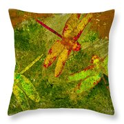 Dragonflies Abound Throw Pillow by Jack Zulli