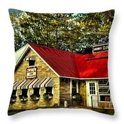 Drake's Inn On Seventh Lake Throw Pillow by David Patterson