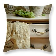 Drawer Of Lace Throw Pillow by Diana Angstadt