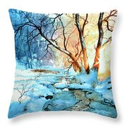 Drawn To The Sun Throw Pillow by Hanne Lore Koehler