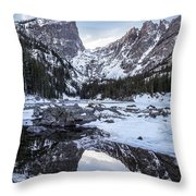 Dream Lake Reflection Throw Pillow by Aaron Spong