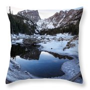 Dream Lake Reflection Square Format Throw Pillow by Aaron Spong