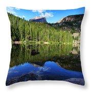 Dream Lake Rocky Mountain National Park Throw Pillow by Wayne Moran