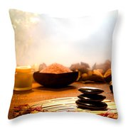 Dream Spa Throw Pillow by Olivier Le Queinec