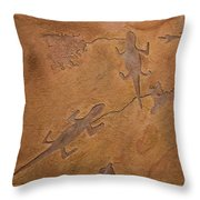 Dream Walkers Throw Pillow by Katie Fitzgerald