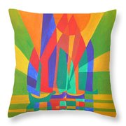 Dreamboat Throw Pillow by Tracey Harrington-Simpson
