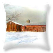 Dreams of a White Christmas Throw Pillow by Mary Timman