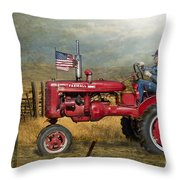 Dreams Of Yesteryear Throw Pillow by Betty LaRue