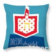 Dreidels Throw Pillow by Linda Woods