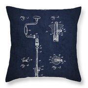 Drill Pounder Patent Drawing From 1922 Throw Pillow by Aged Pixel