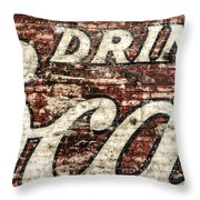Drink Coca-cola 2 Throw Pillow by Scott Norris