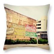 Drink Coca Cola Throw Pillow by Scott Pellegrin