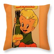 Drink Squirt Sign Throw Pillow by Thomas Woolworth