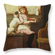 Drink To Me Only With Thine Eyes Throw Pillow by Charles Trevor Garland