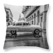 Driving In The Rain Throw Pillow by Erik Brede
