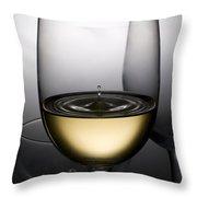 Drops Of Wine In Wine Glasses Throw Pillow by Setsiri Silapasuwanchai