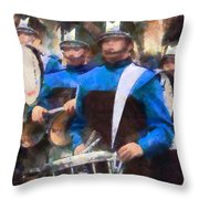 Drummers Throw Pillow by Susan Savad