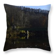 Dry Fork at Jenningston Throw Pillow by Randy Bodkins
