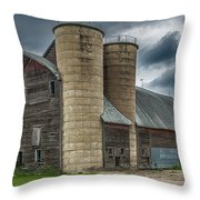 Dual Silos Throw Pillow by Paul Freidlund