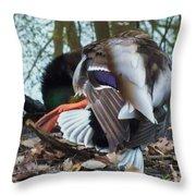 Duck Dance Throw Pillow by Anna Villarreal Garbis