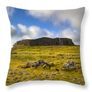 Dun Aengus - Ancient Irish History Throw Pillow by Mark E Tisdale
