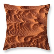 Dune Patterns - 246 Throw Pillow by Paul W Faust -  Impressions of Light