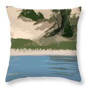 Dunes Of Lake Michigan Throw Pillow by Michelle Calkins