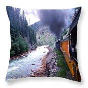 Durango To Silverton Throw Pillow by Kume Bryant