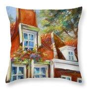 Dutch Gables Throw Pillow by Chris Brandley
