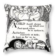 Duty Of Children  1895 Throw Pillow by Daniel Hagerman
