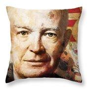 Dwight D. Eisenhower Throw Pillow by Corporate Art Task Force