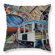 Dynamic Route 66 II Throw Pillow by Ricardo Chavez-Mendez