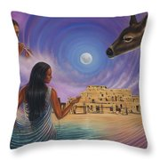 Dynamic Taos Il Throw Pillow by Ricardo Chavez-Mendez
