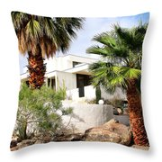 E. Stewart Williams Home Palm Springs Throw Pillow by William Dey
