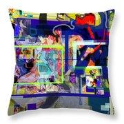 Each Positive Step is Vital 6 Throw Pillow by David Baruch Wolk