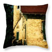 Eagle Bluff Light Throw Pillow by Michelle Calkins