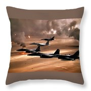 Eagles And Falcons Throw Pillow by Benjamin Yeager