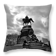 Eakins Oval In Winter Throw Pillow by Bill Cannon
