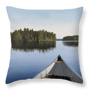 Early Evening Paddle  Throw Pillow by Kenneth M  Kirsch