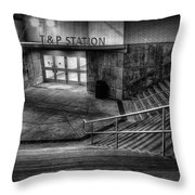 Early Morning Commute Throw Pillow by Joan Carroll