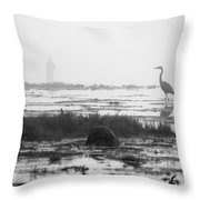 Early Morning Fog Throw Pillow by Mike McGlothlen