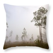 Early morning fog Throw Pillow by Rudy Umans