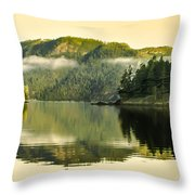 Early Morning Reflections Throw Pillow by Robert Bales
