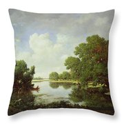 Early Summer Afternoon Throw Pillow by Pierre Etienne Theodore Rousseau