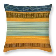 Earth Layers Abstract Ll Throw Pillow by Michelle Calkins