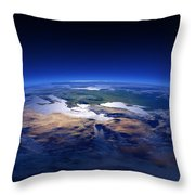 Earth - Mediterranean Countries Throw Pillow by Johan Swanepoel